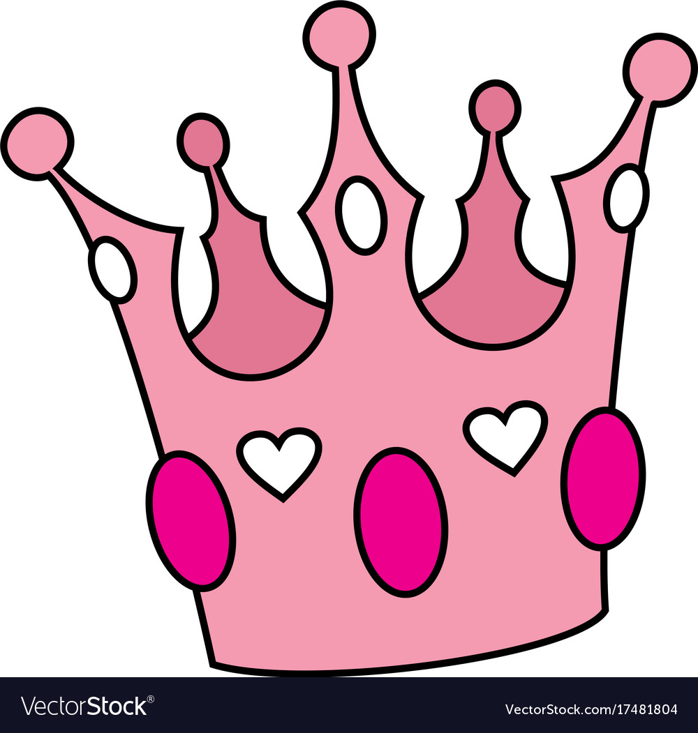 Pink Crown Isolated On White Background Royalty Free Vector Скачайте векторную иллюстрацию cute pink crown with gems cartoon icon fun cartoon crown with decoration elements on background pink diadem for princess and queens on white. vectorstock