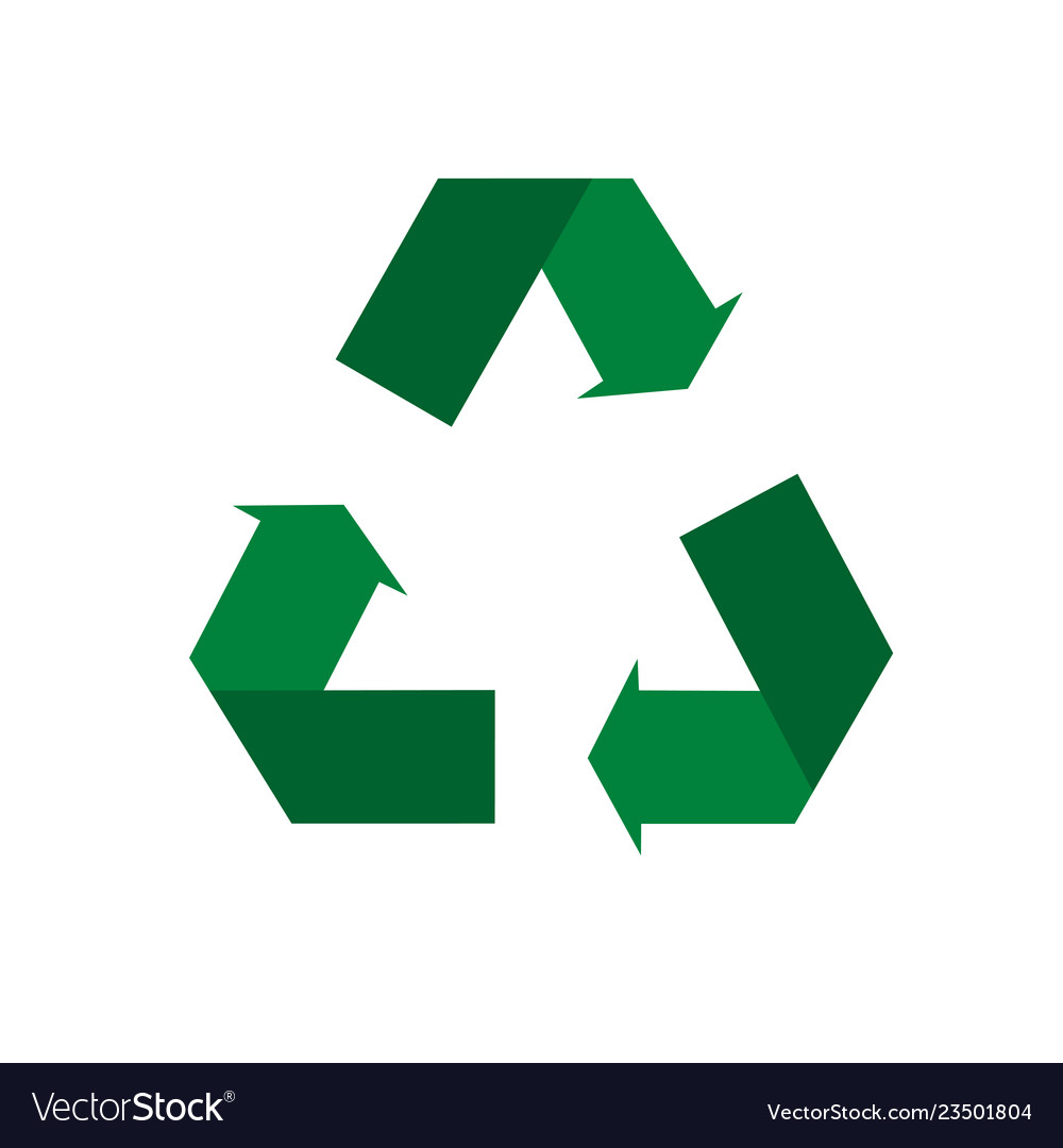 Recycle icon environmental management in
