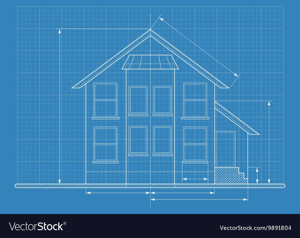 Technical drawing house blueprint royalty free vector image technical drawing house blueprint vector image malvernweather Images