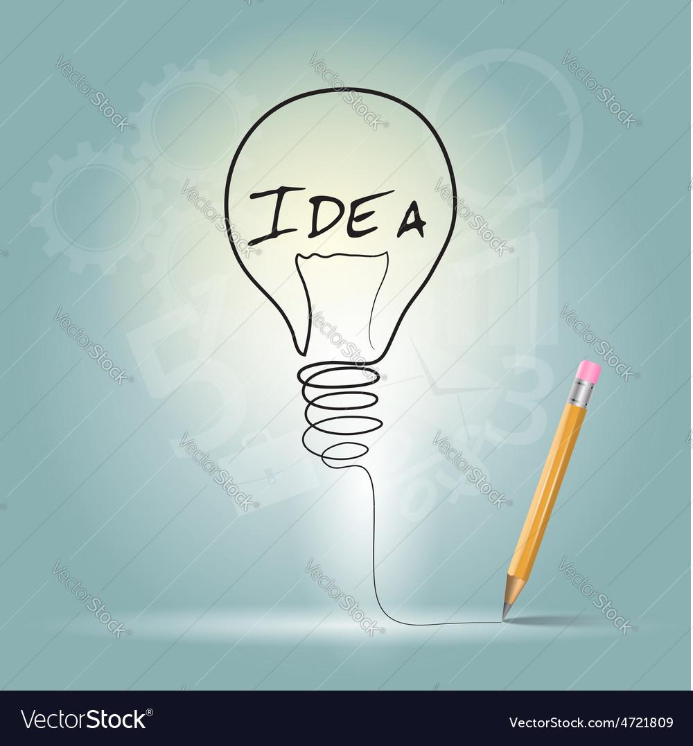 Idea graphic design vector image