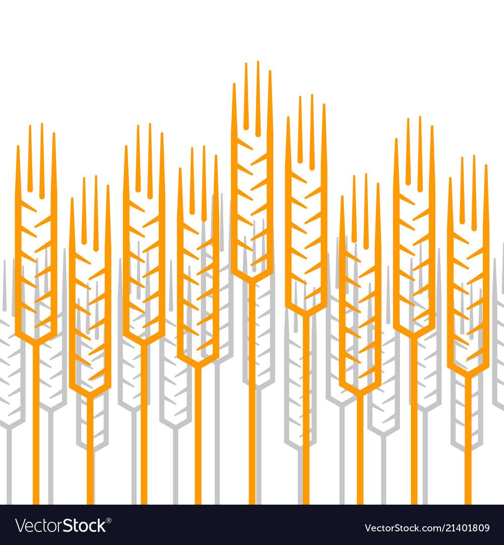 Linear ears of wheat pattern