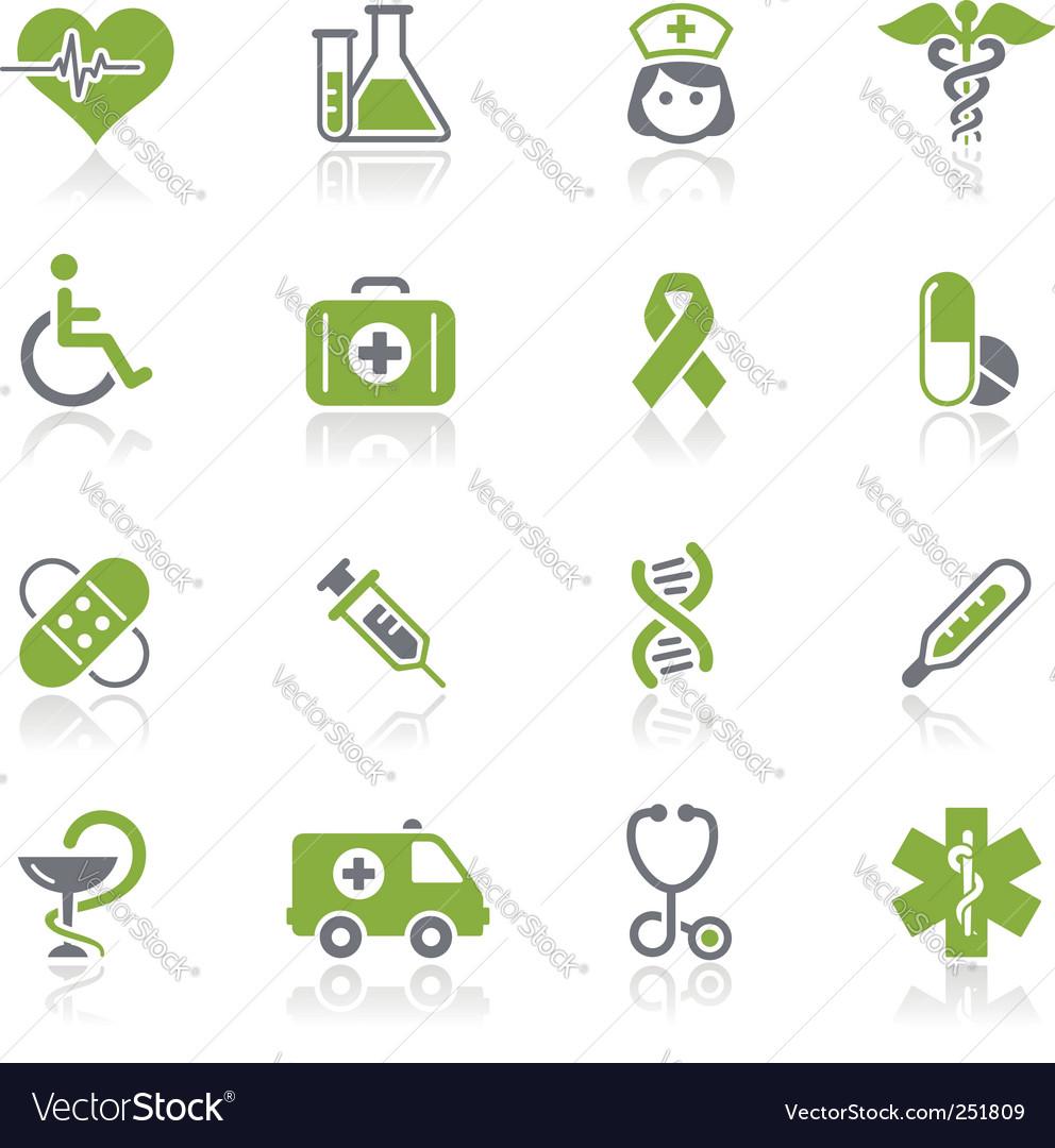 Medicine and heath care icons