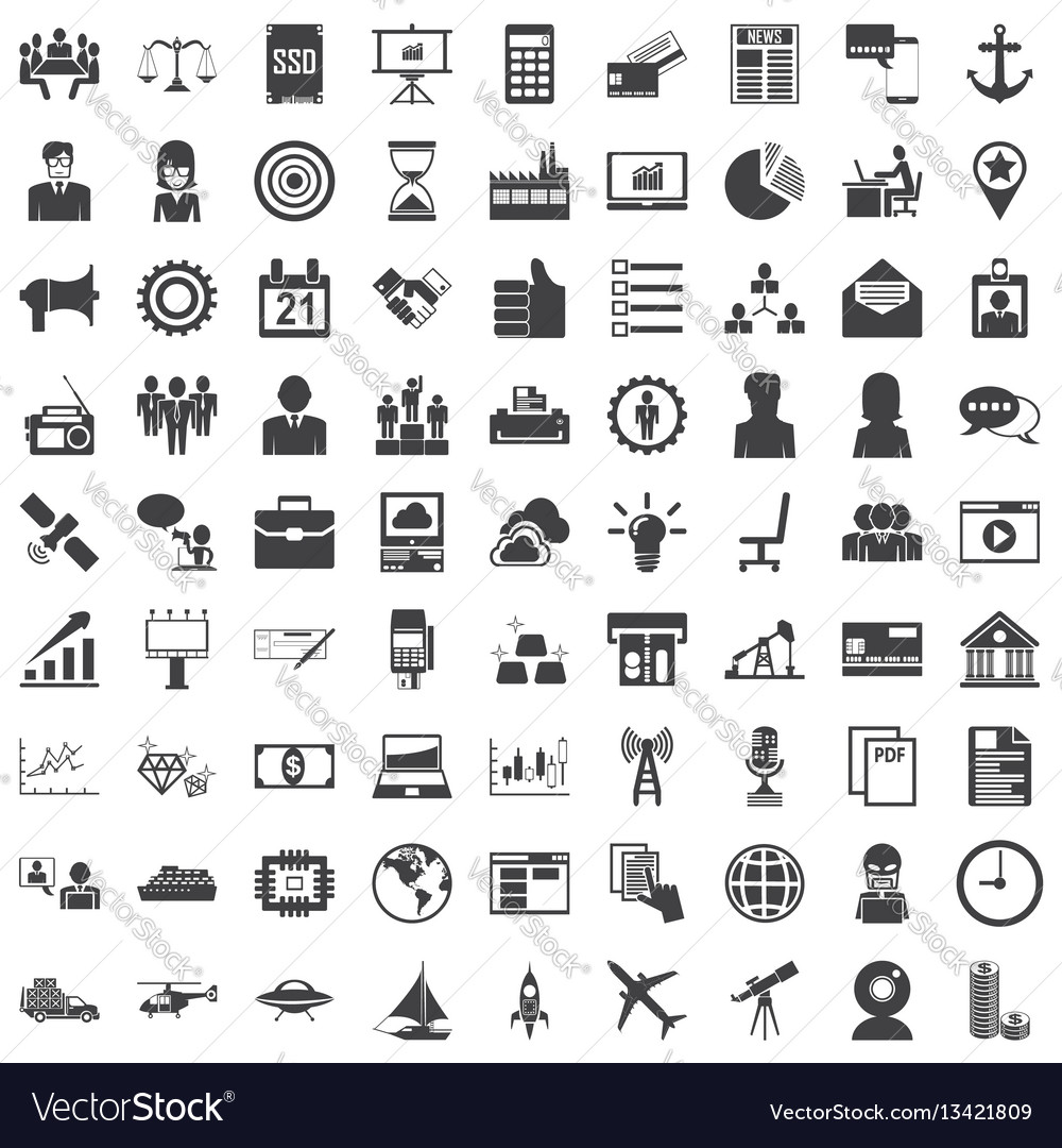 Universal icon set 81 icons