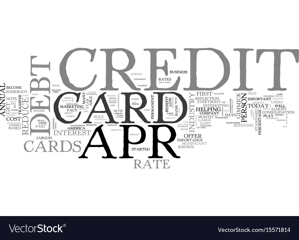 Apr credit card truths and traps text word cloud