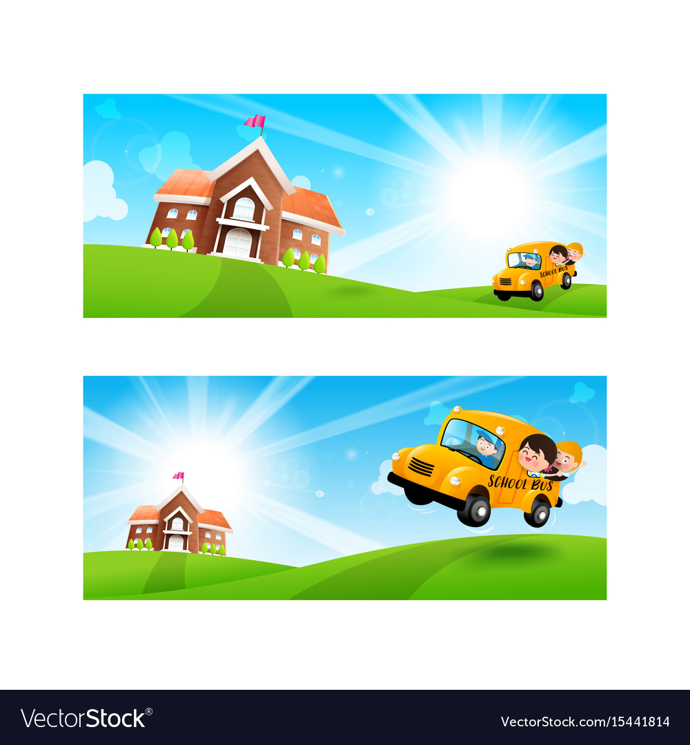 Back to school concept blank banner template