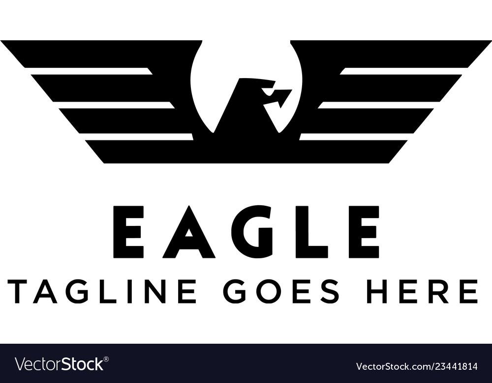 Black eagle logo design inspiration