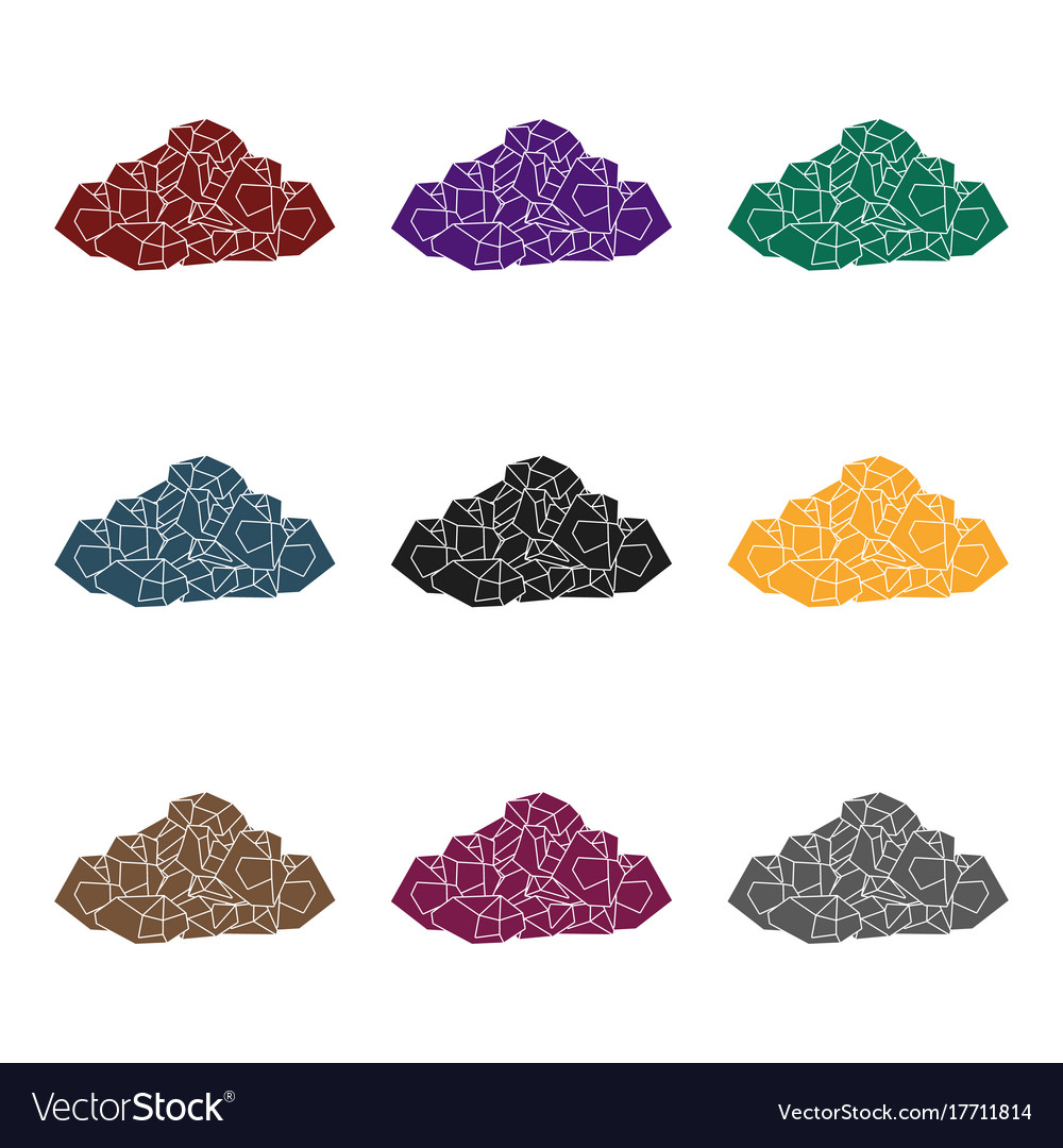 black minerals from the minecoal which is mined vector image