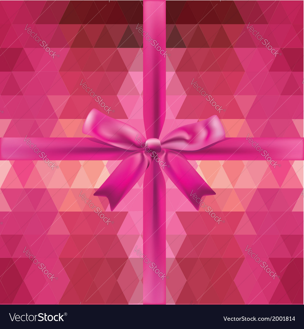 Glamour pink bow isolated
