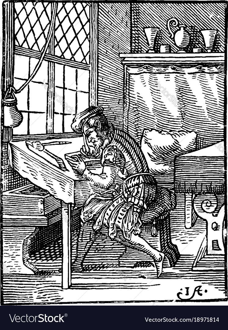 The wood-engraver dark areas in the composition