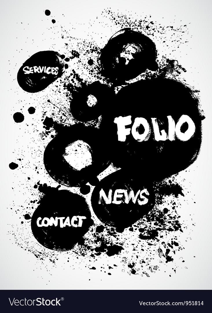 Vintage Ink Black and White Design vector image