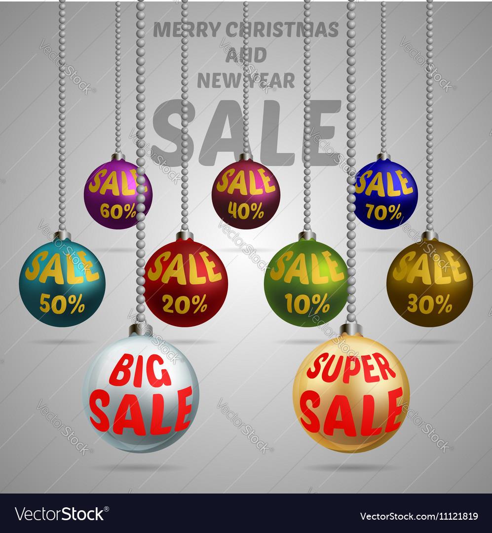 Colorful Christmas balls discount