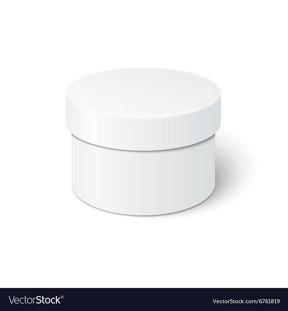Cylindrical box template vector image