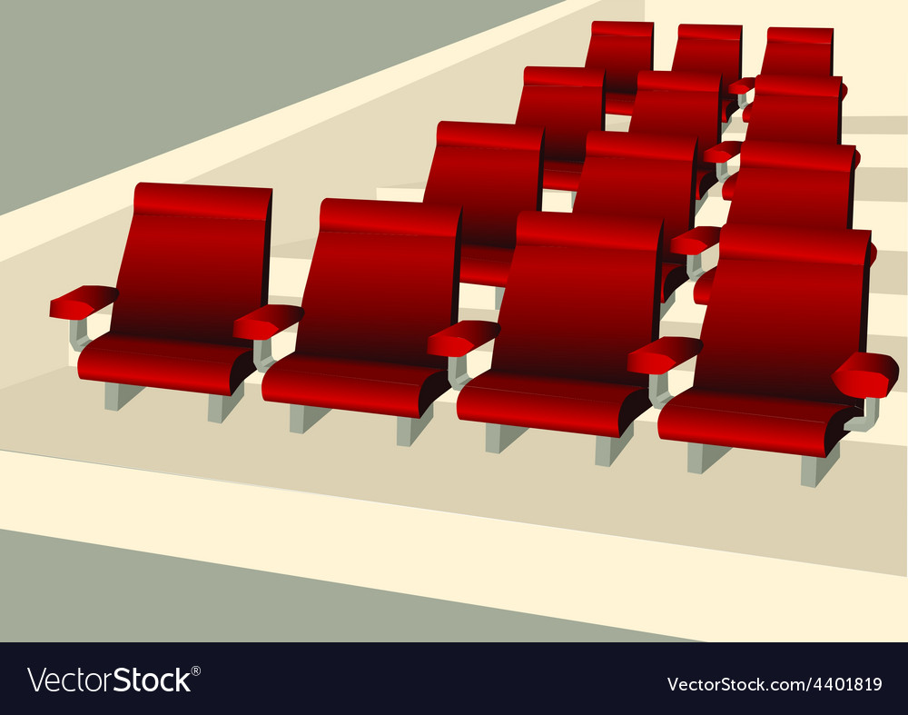 Empty seats vector image