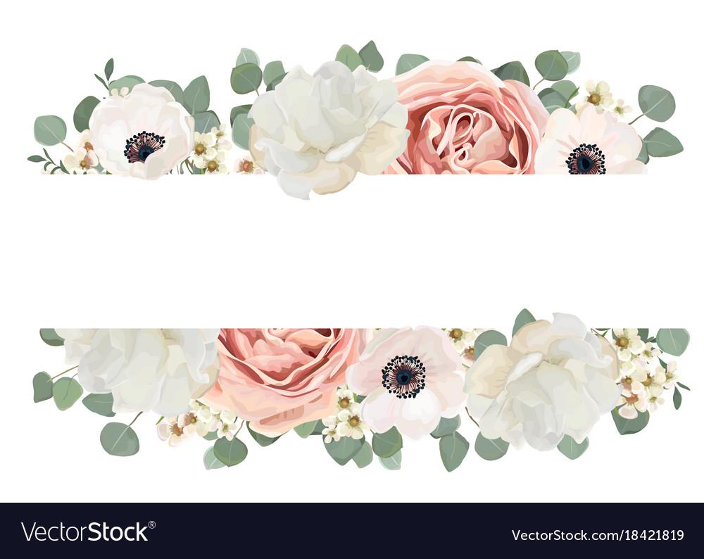 Floral card design with flower bouquet peach