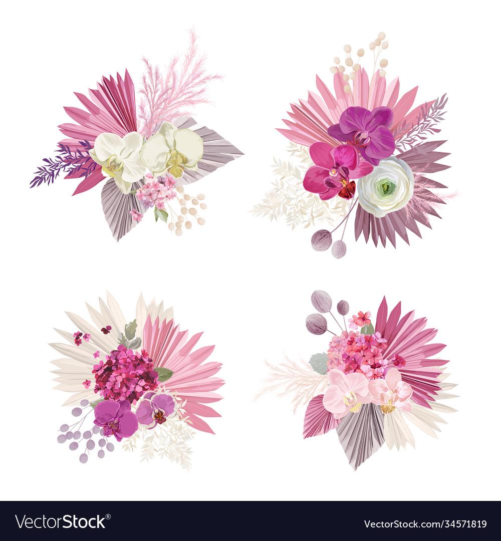 Floral tropical bouquet boho collection