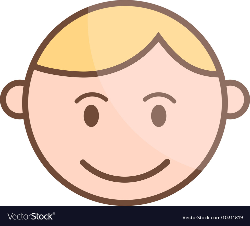 Happy cartoon laughing boy and laughing boy vector image