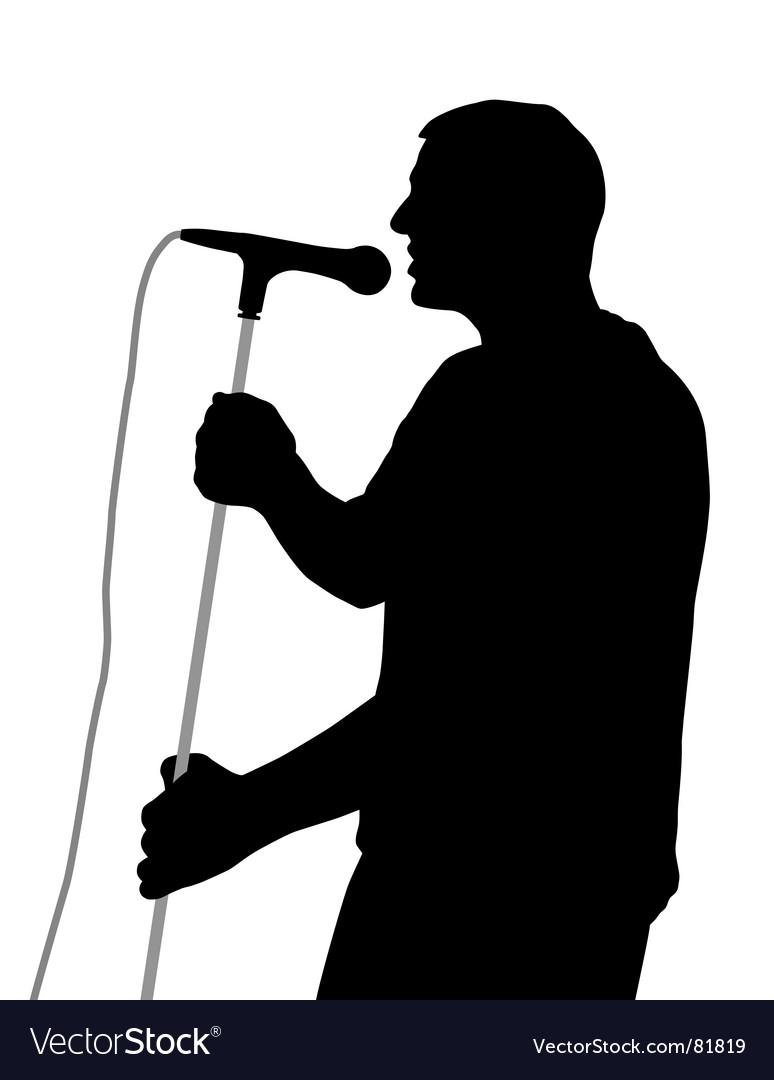 Male singer vector image