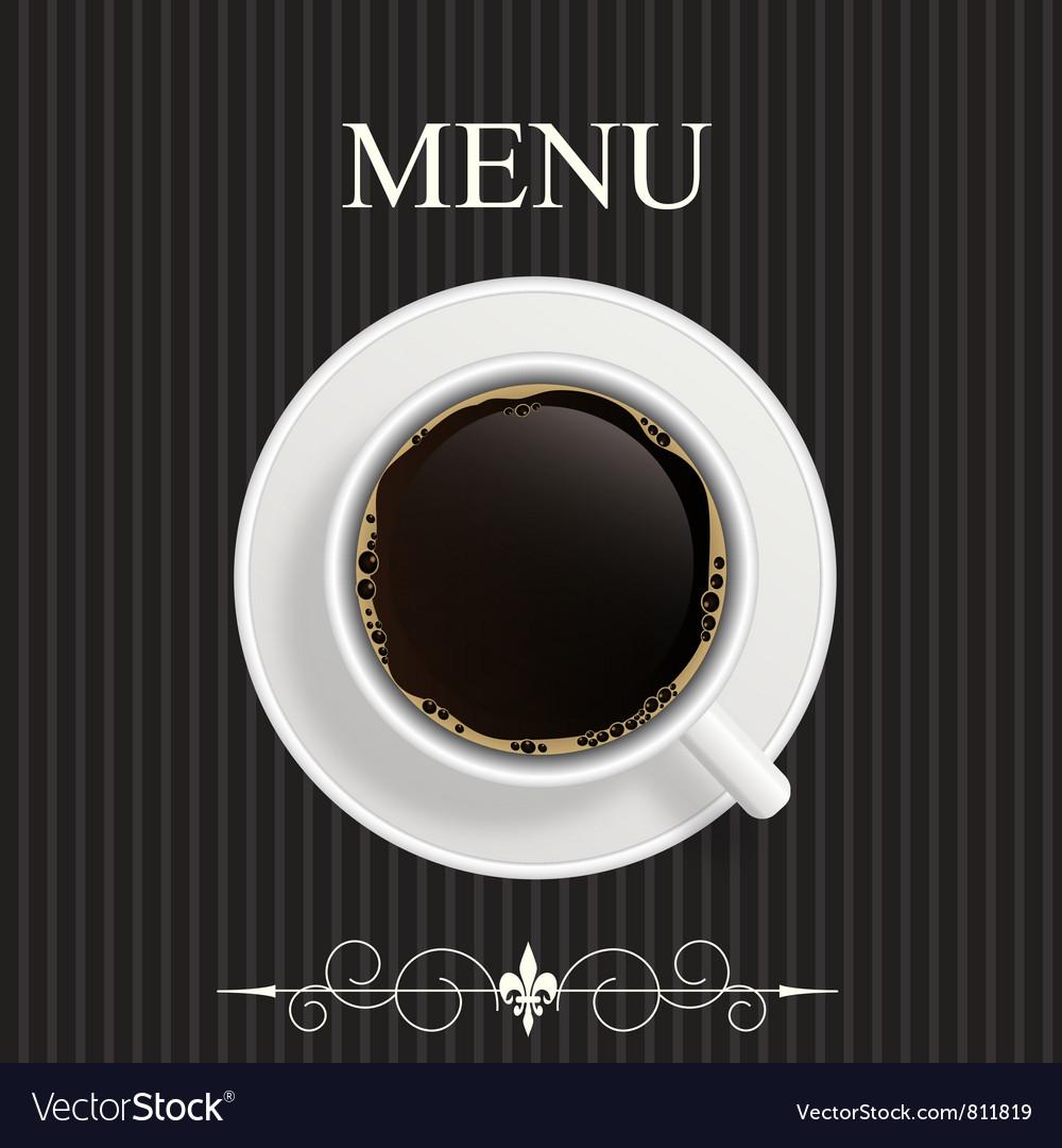 Menu for restaurant cafe
