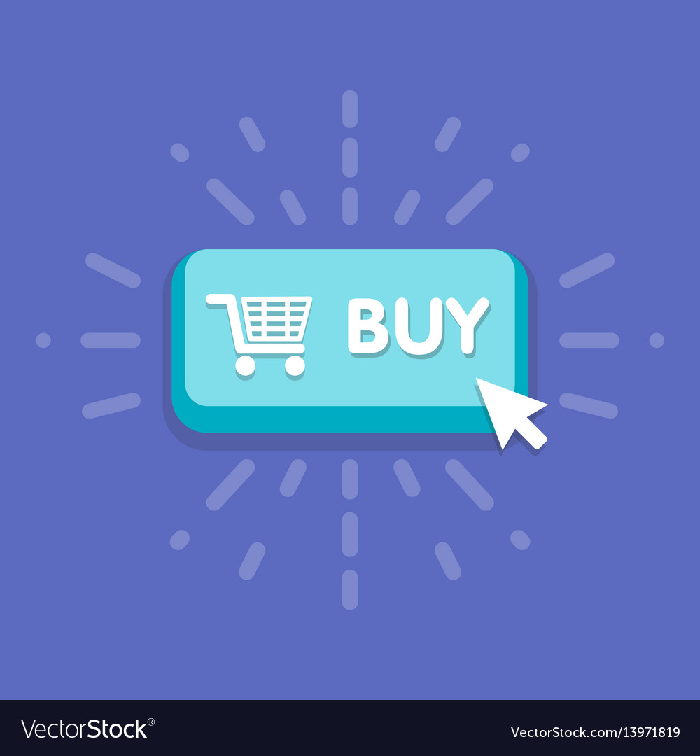 Modern buy button design with mouse click symbol