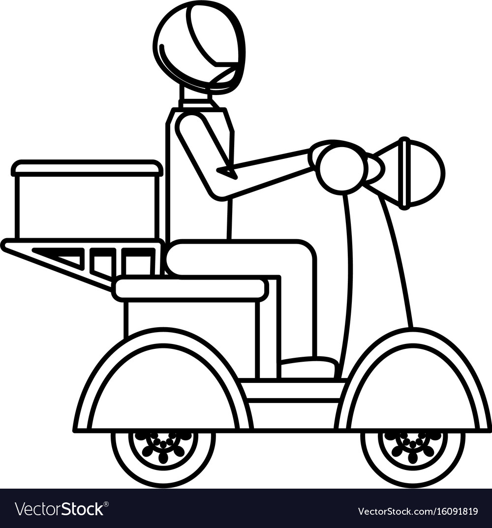 Motorcycle courier vehicle