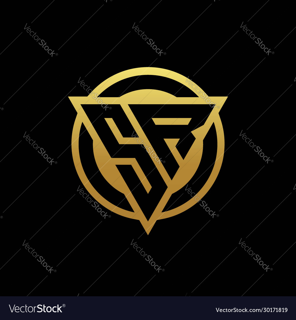 Sr Logo Monogram With Triangle Shape And Circle Vector Image