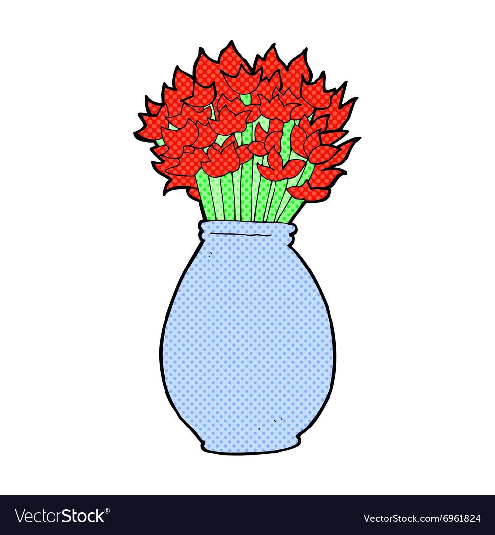233 & Comic cartoon vase of flowers