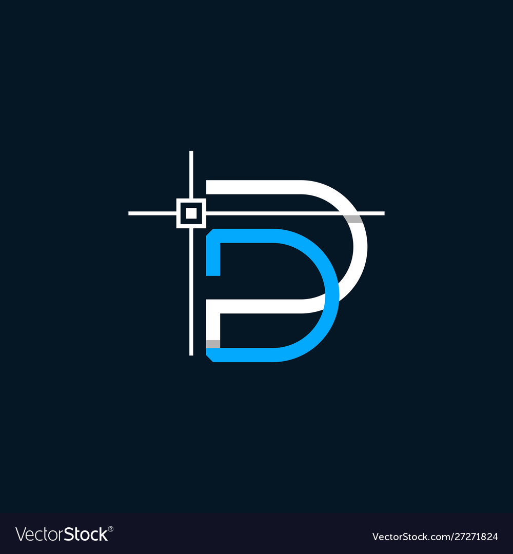 Letter Dp Auto Cad Media Business Logo Design Vector Image