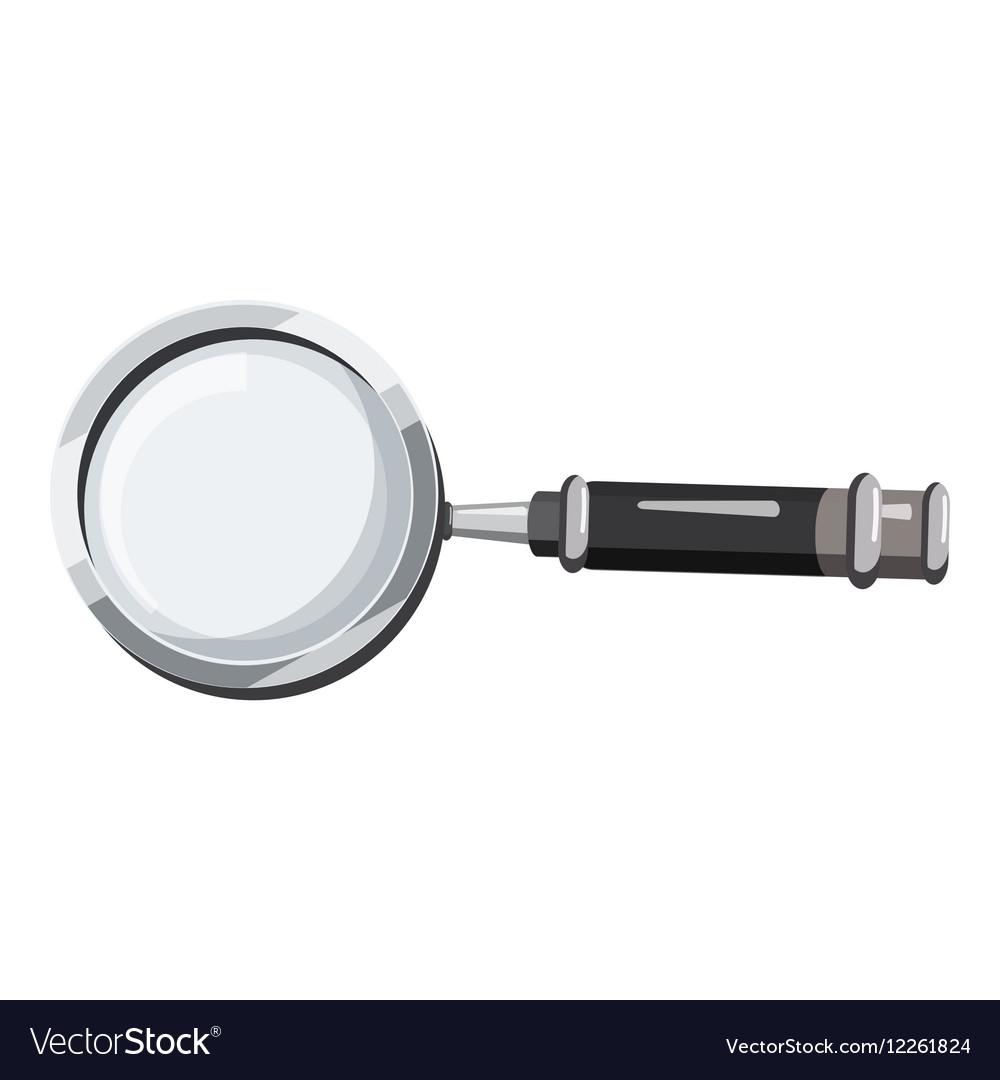 Magnifier translator icon cartoon style vector image