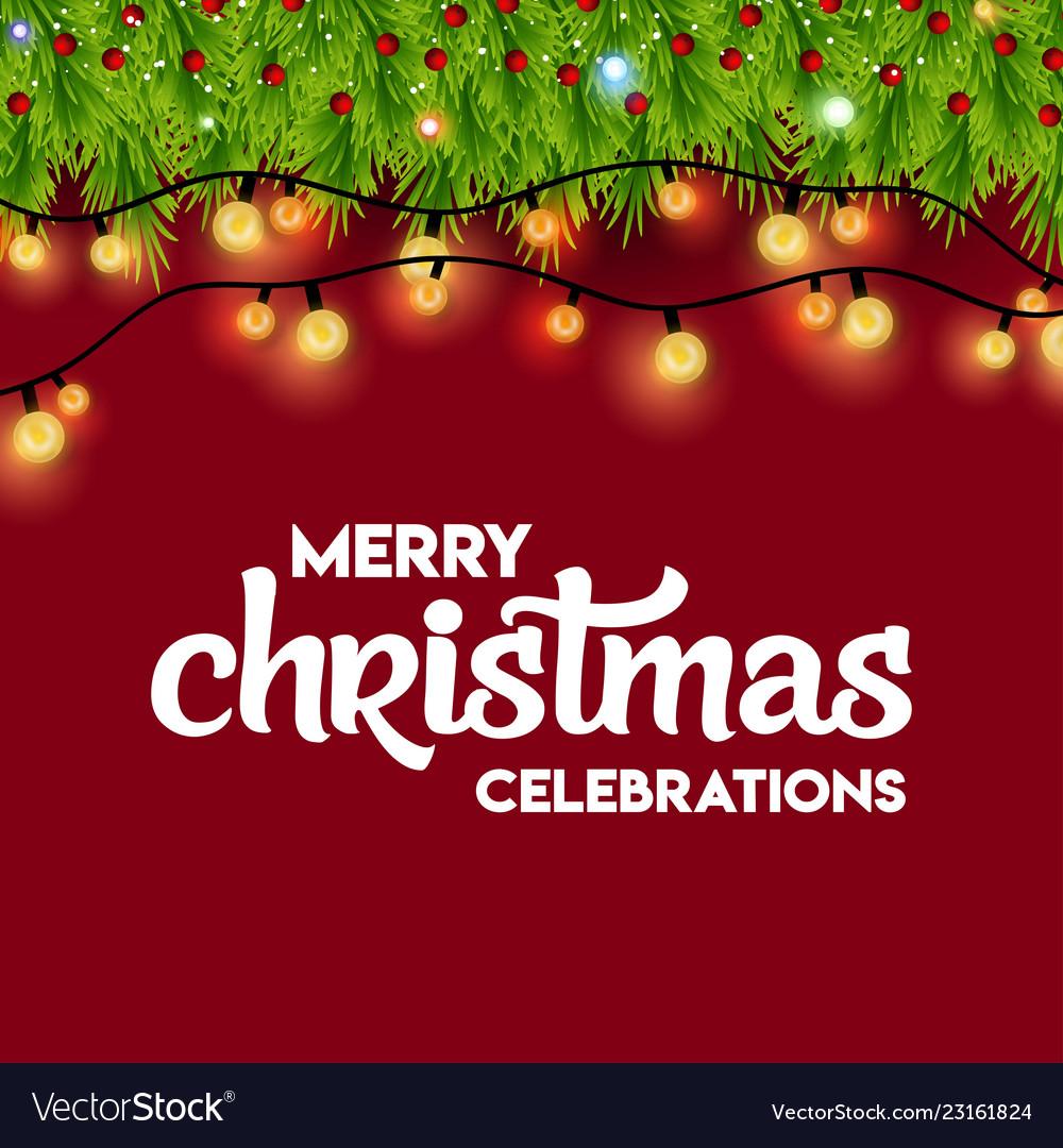Merry Christmas Lights.Merry Christmas Celebrations Lighting Background