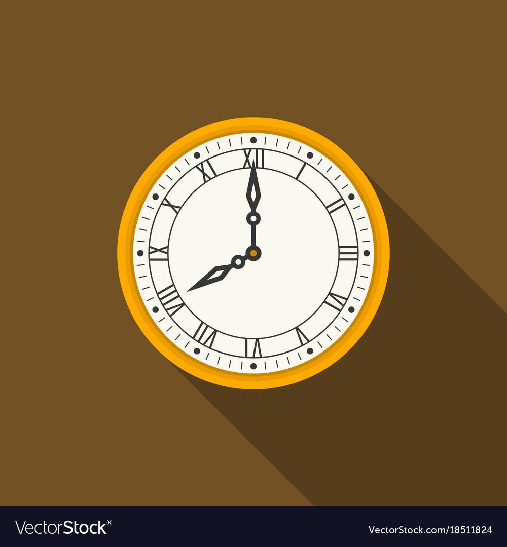 Retro roman numerals wall clock