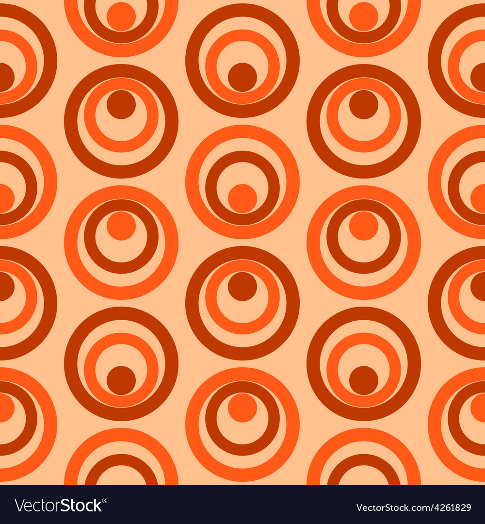 Abstract Colorful Retro Circles Seamless Pattern
