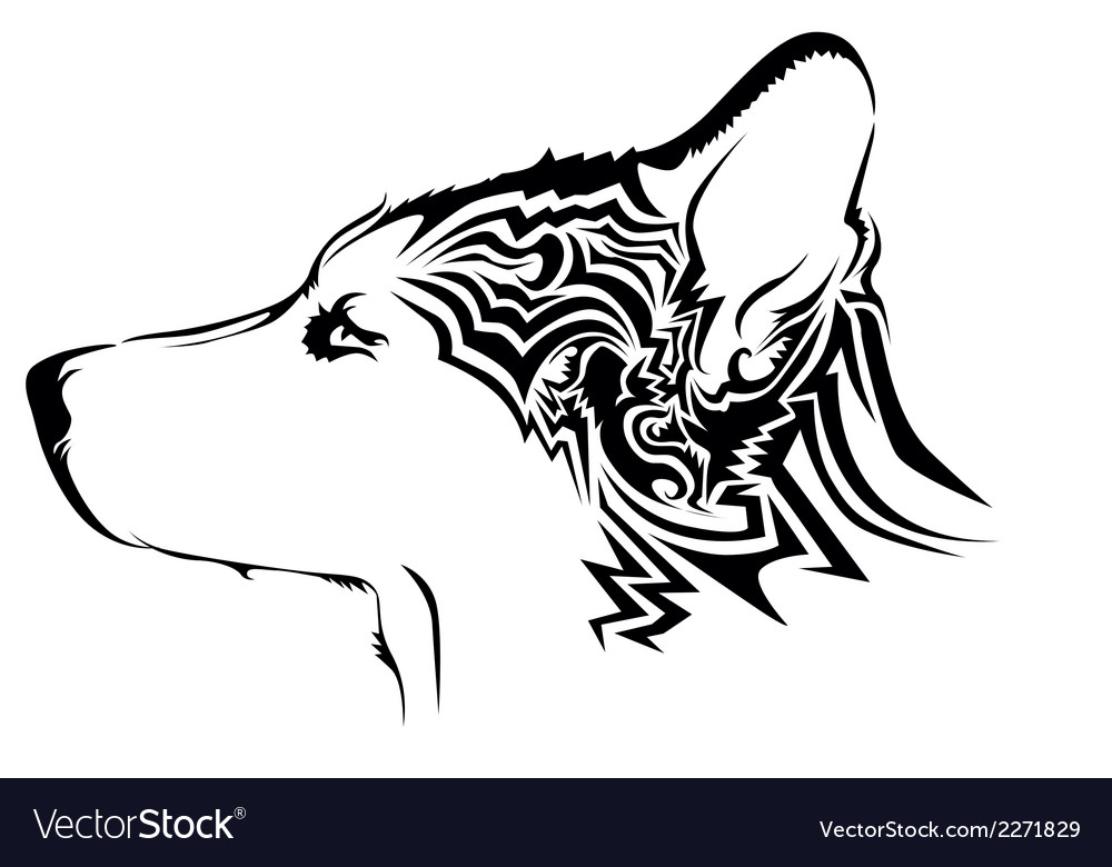 Abstract dog design