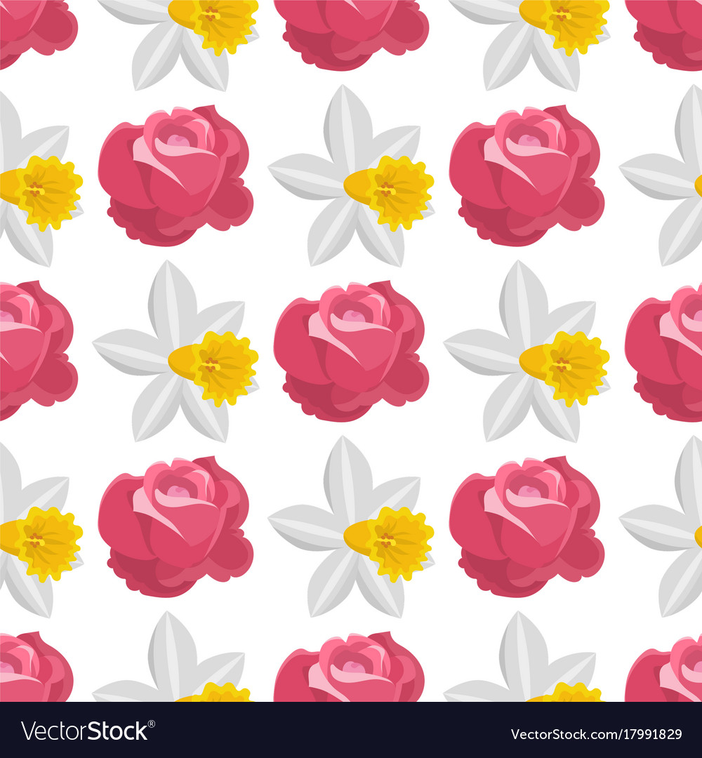 Beautiful watercolor rose flower narcissus style vector image