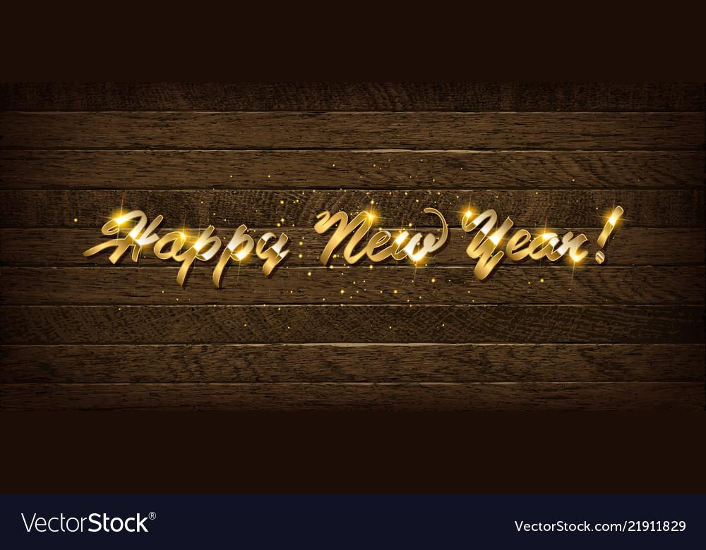 Golden inscription happy new year 2019