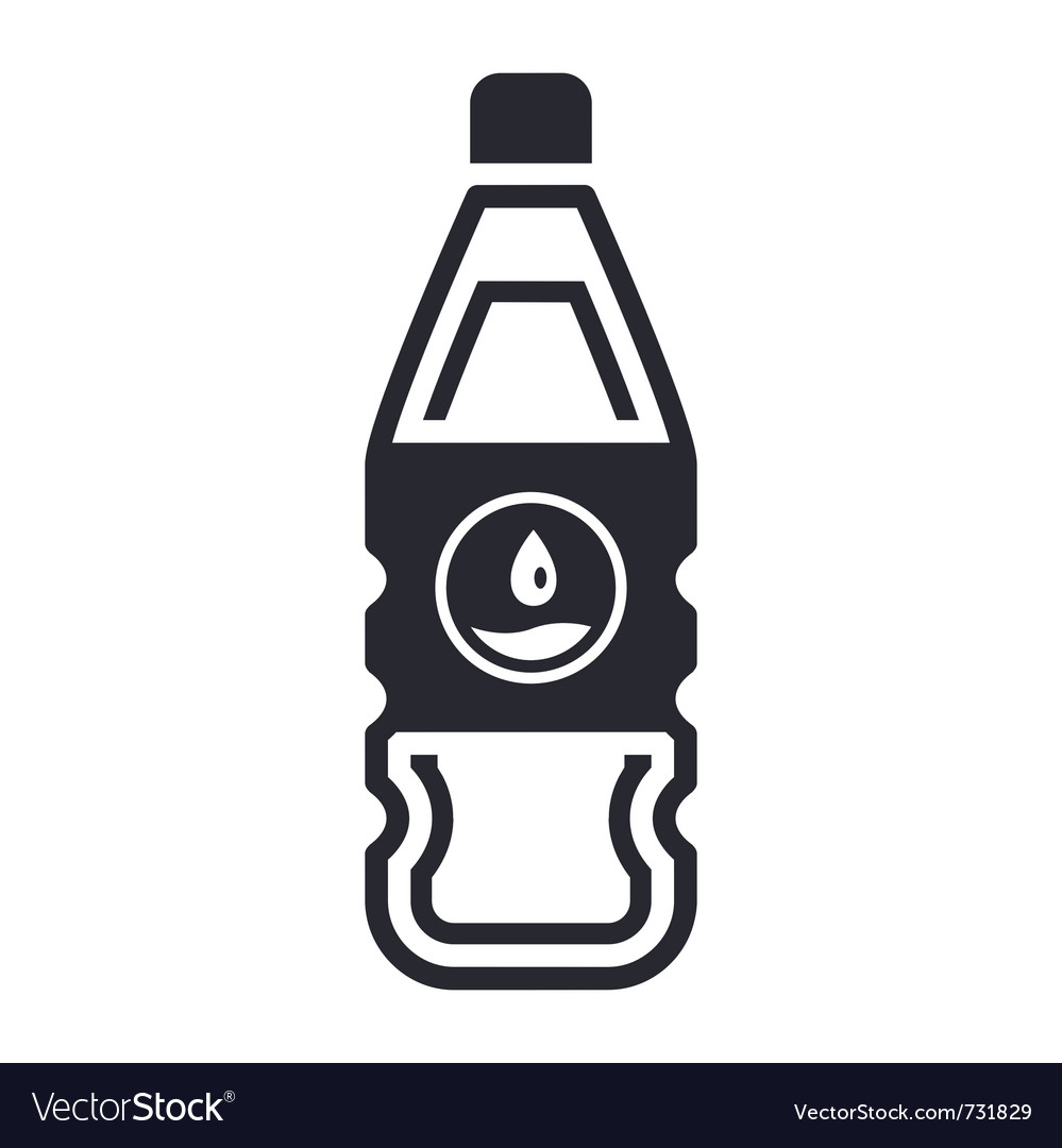 Liquid bottle vector image