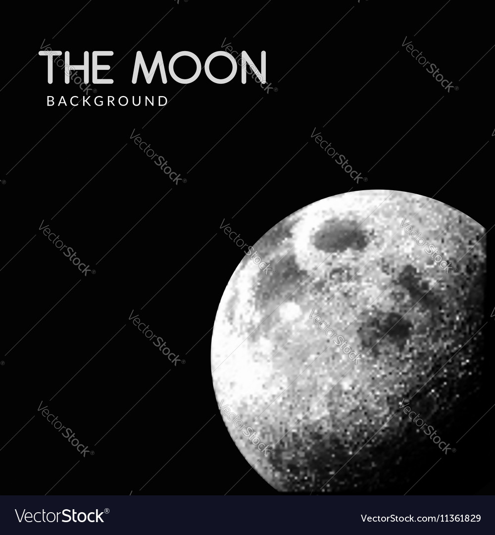 Realistic Moon space background vector image