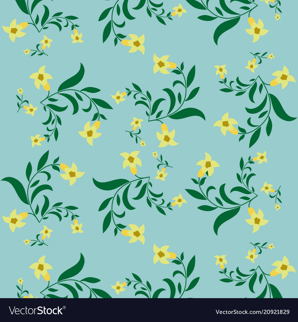 Simple Vintage Floral Pattern Royalty Free Vector Image