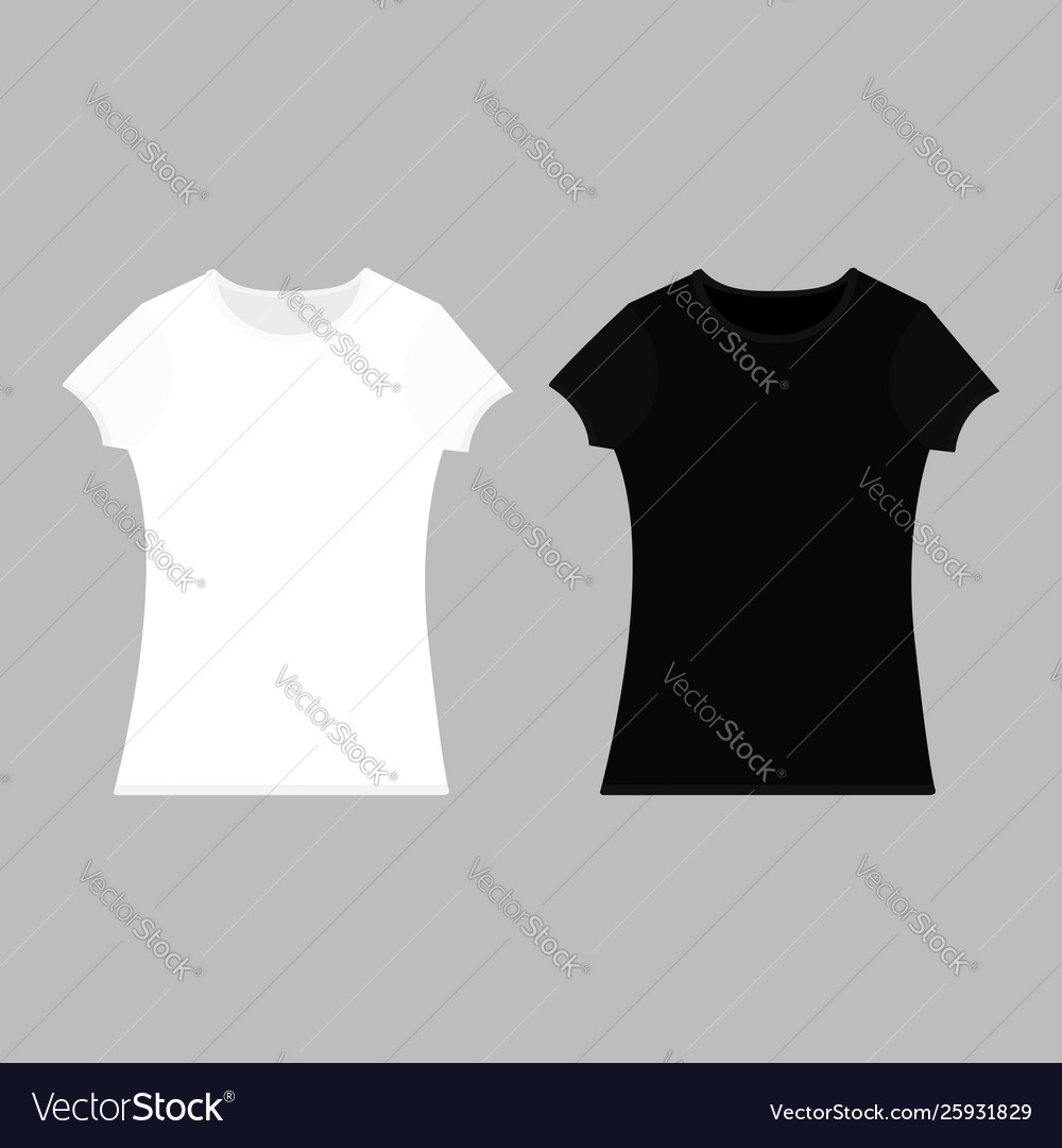 White empty mens t shirt template royalty free vector image.
