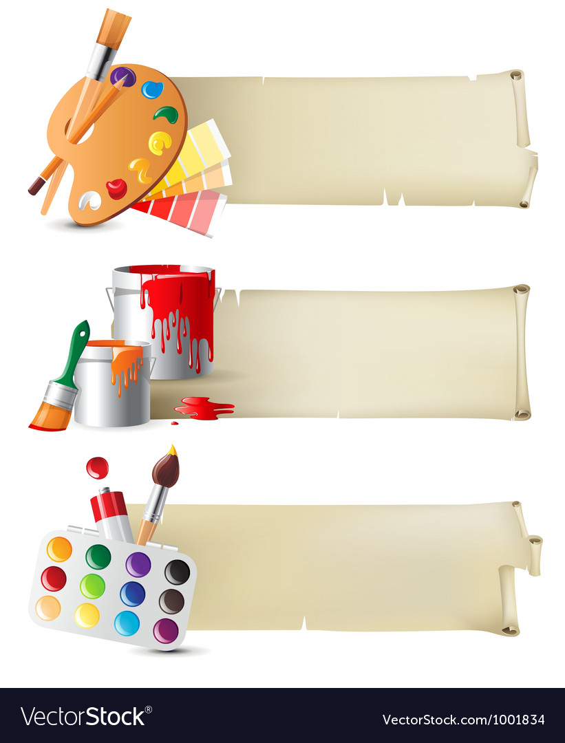 Artistic banners vector image
