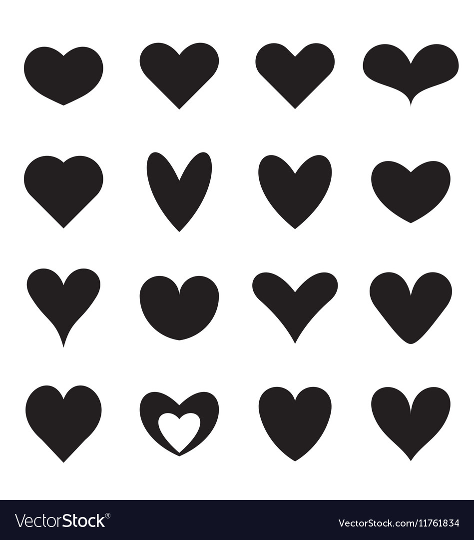 Heart symbol shapes