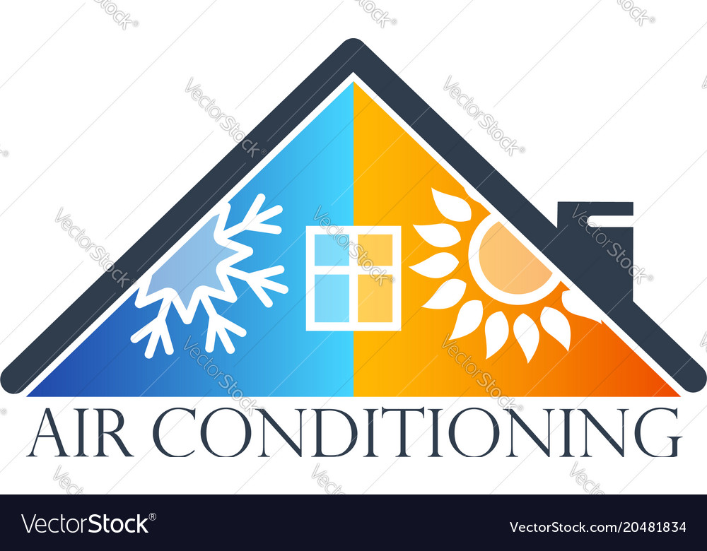 House Air Conditioner Symbol Royalty Free Vector Image