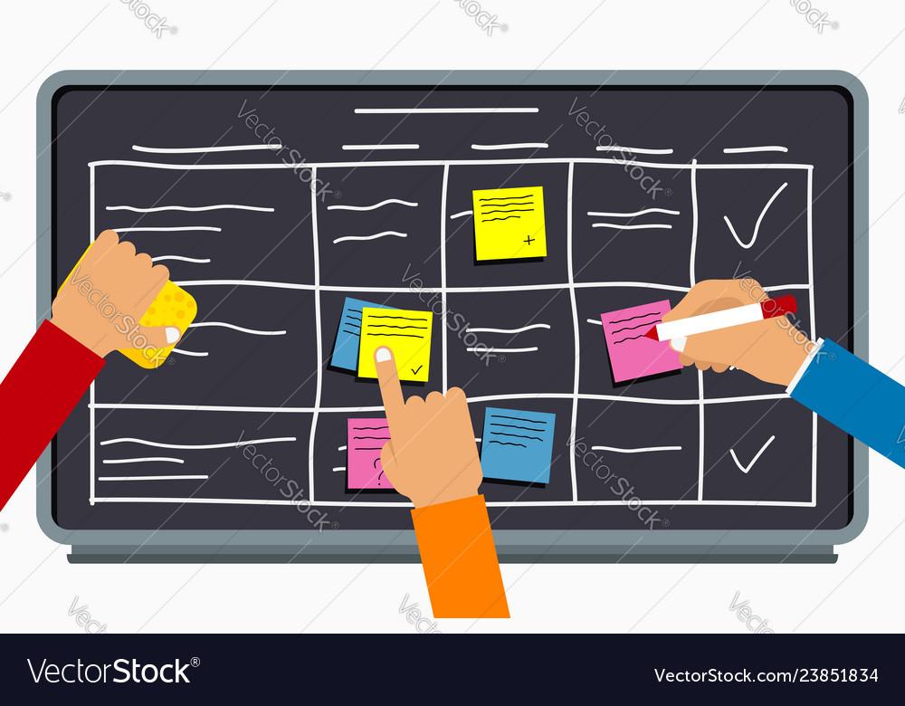 Office team planning board