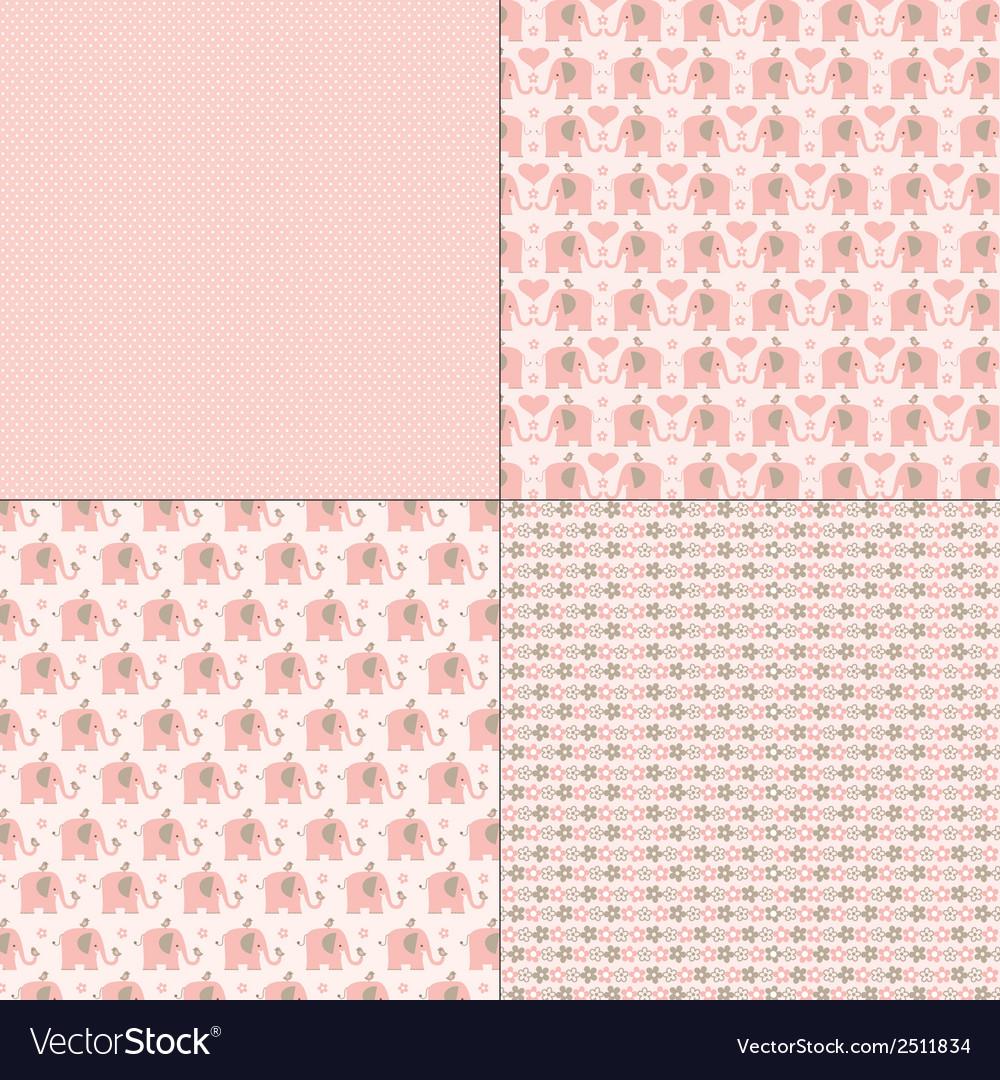Pink elephant patterns
