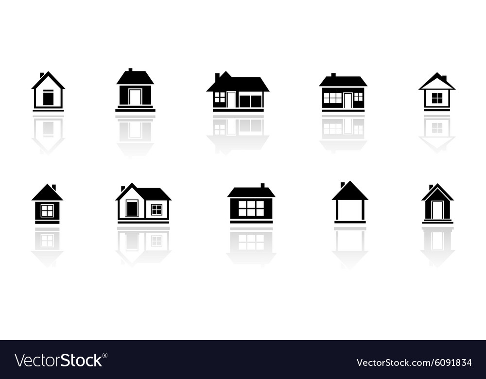 Set isolated home with mirror reflection