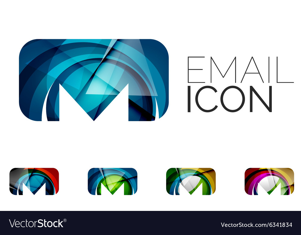 Set of abstract email icon business logotype