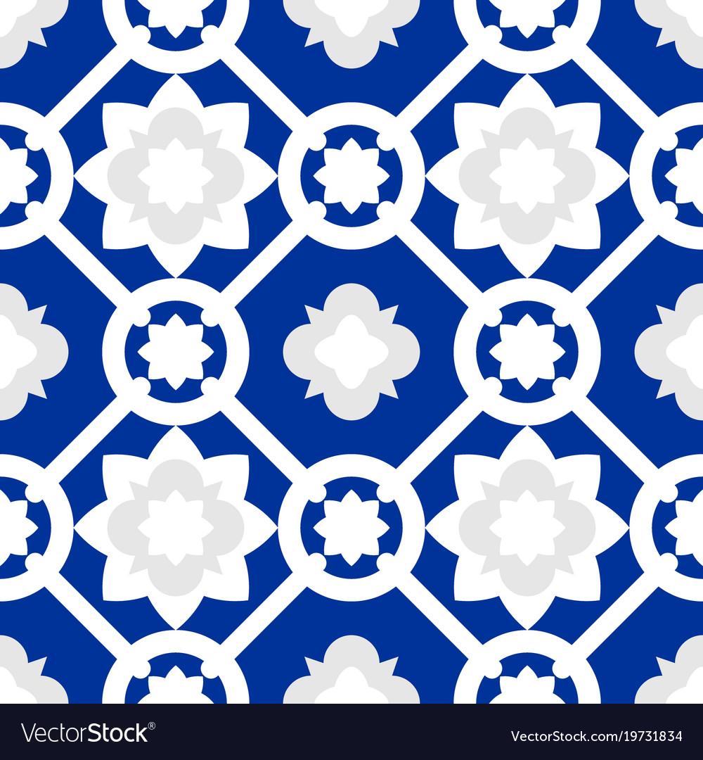 Tile Indigo Blue Decorative Floor Tiles Pattern
