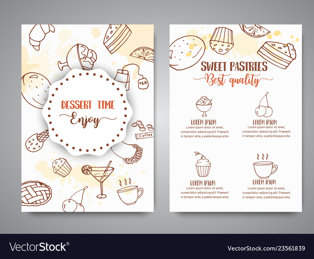 Bakery poster template with pastries sweet pastry