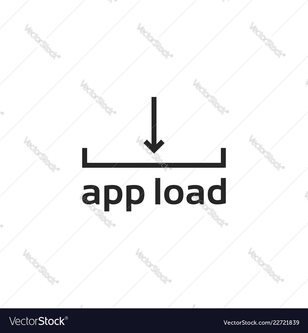 Black line app loading logo