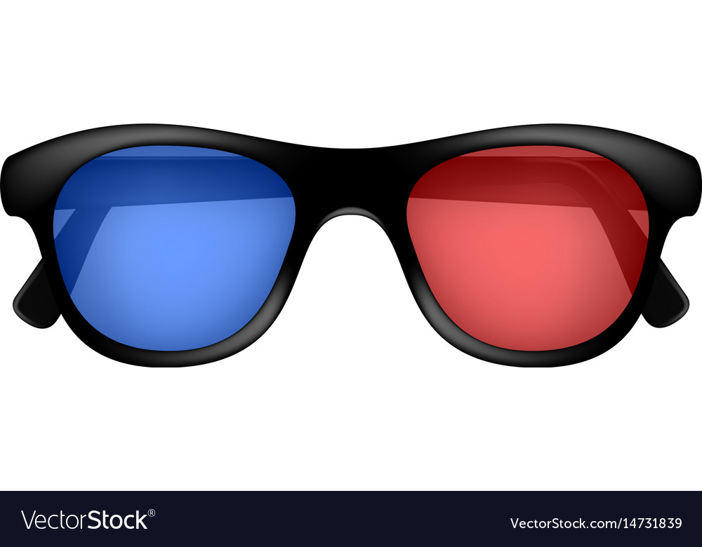 Cinema glasses in retro design