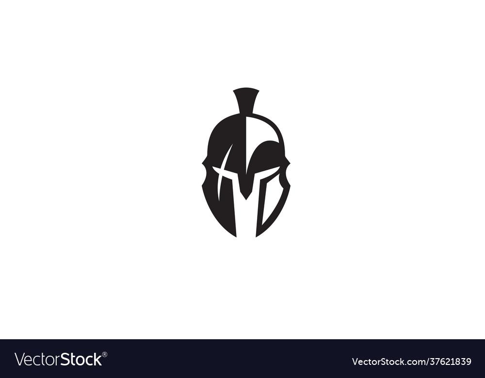 Creative spartan helmet logo design